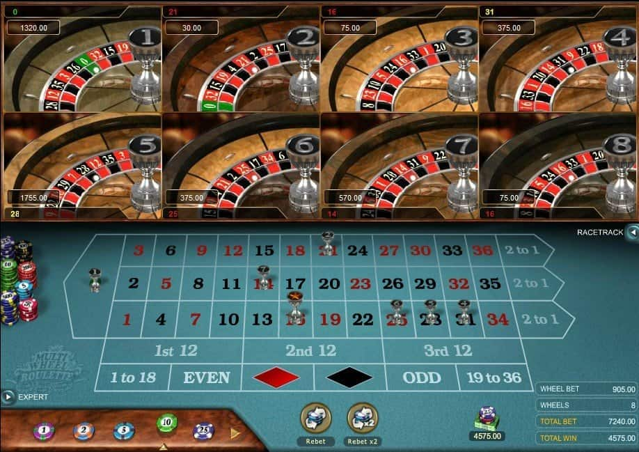 Multi Wheel Roulette Gold van Microgaming