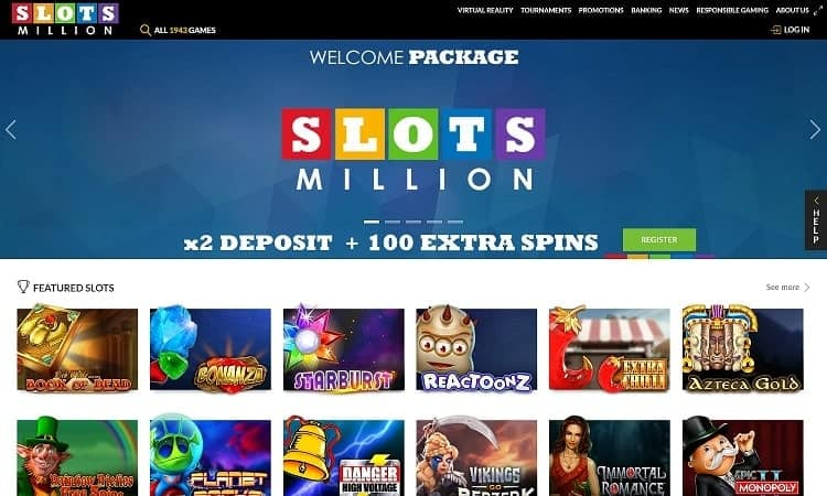 Slotsmillion online casino website
