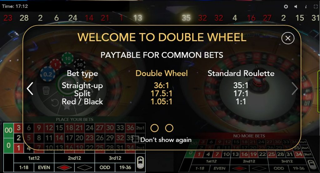 Auto-Roulette Double Wheel Authentic Gaming roulette