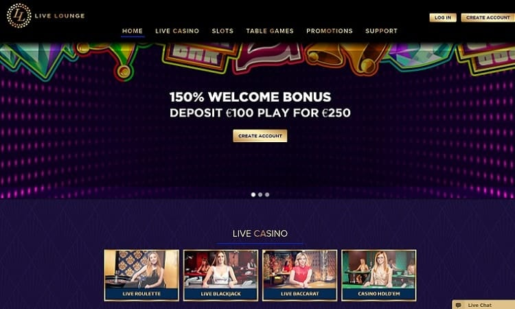 Live Lounge online casino