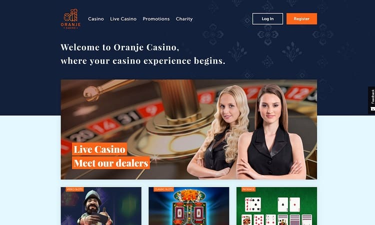 De website van oranje casino