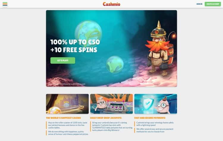 website van Cashmio
