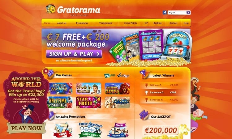 De website van Gratorama