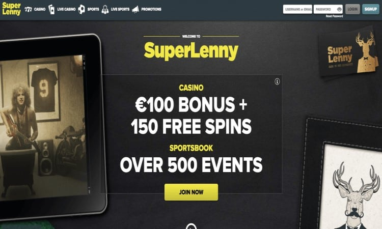 Website van SuperLenny
