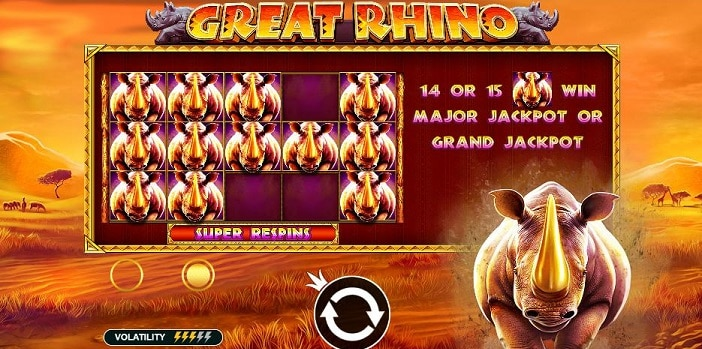 Zo win je de major jackpot bij de Great Rhino