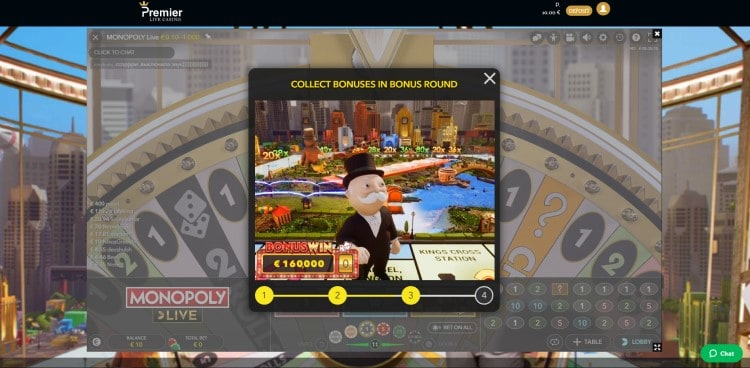 Monopoly Live van Evolution Gaming