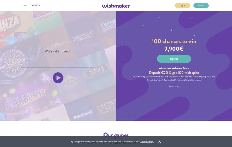 Website van wishmaker casino