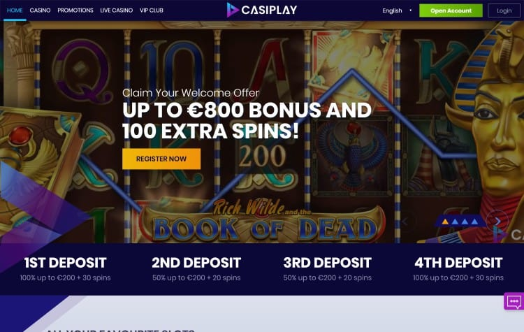 De website van Casiplay