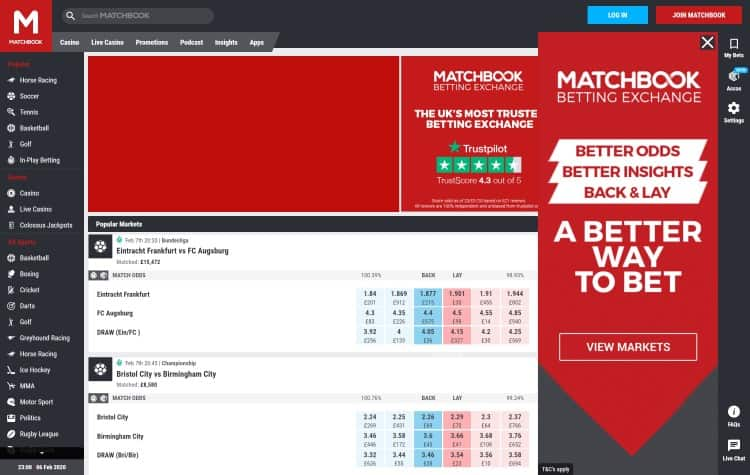 website van matchbook