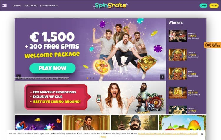 Website van Spinshake