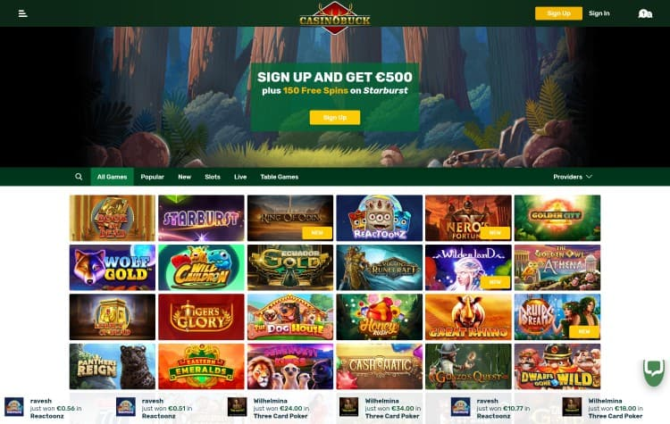 website van casinobuck