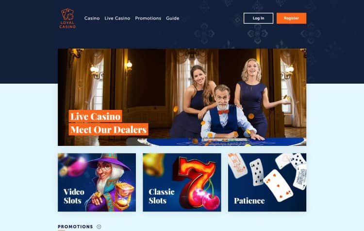 Website van Loyal Casino